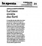 La Lince sventa due furti