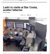 Ladri in visita al Bar Costa, scatta l'allarme