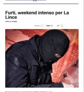 Furti, weekend intenso per La Lince
