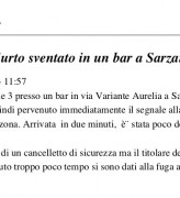 Furto sventato in un bar a Sarzana